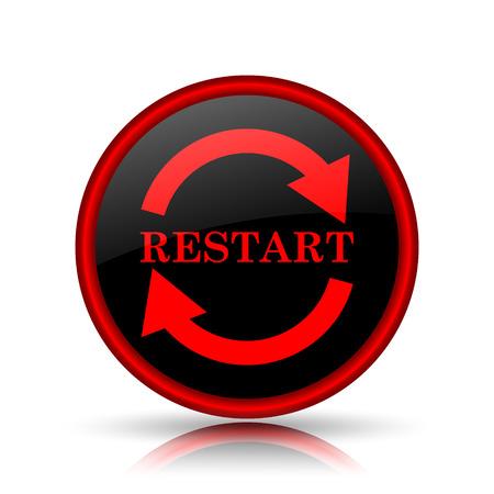 Restart icon. Internet button on white background.
