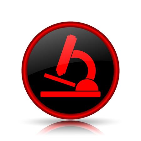 Microscope icon. Internet button on white background. photo