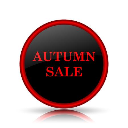 Autumn sale icon. Internet button on white background. photo