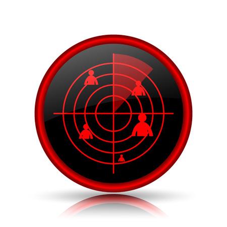 Radar icon. Internet button on white background. photo