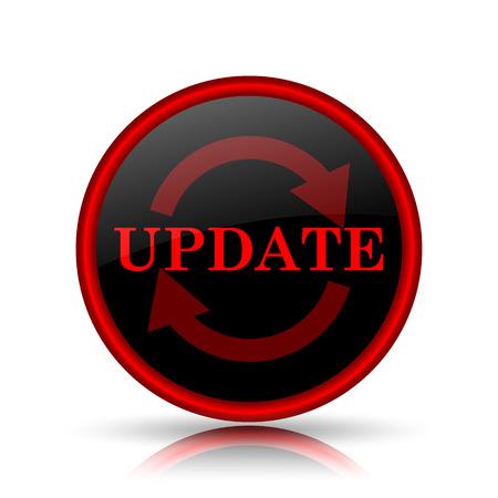 Update icon. Internet button on white background. photo