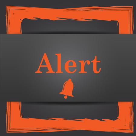 peril: Alert icon. Internet button on grey background. Stock Photo
