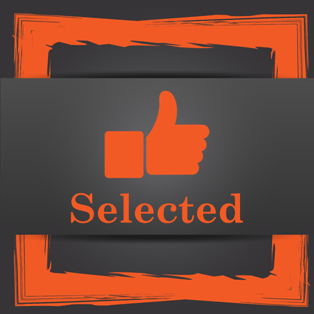 Selected icon. Internet button on grey background. photo