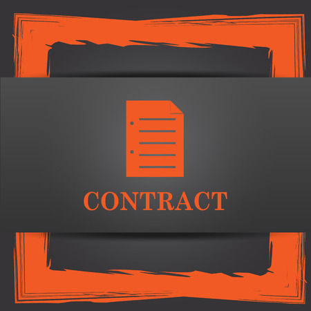 contraction: Contract icon. Internet button on grey background. Stock Photo