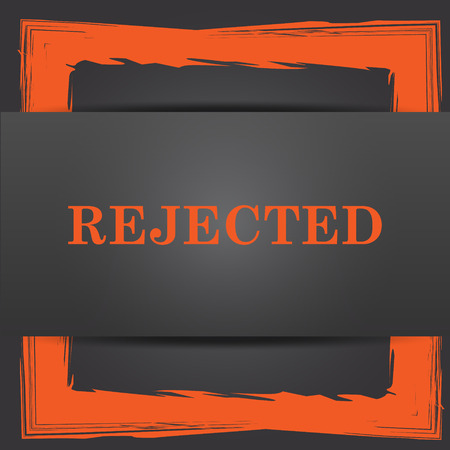 rejected: Rejected icon. Internet button on grey background.