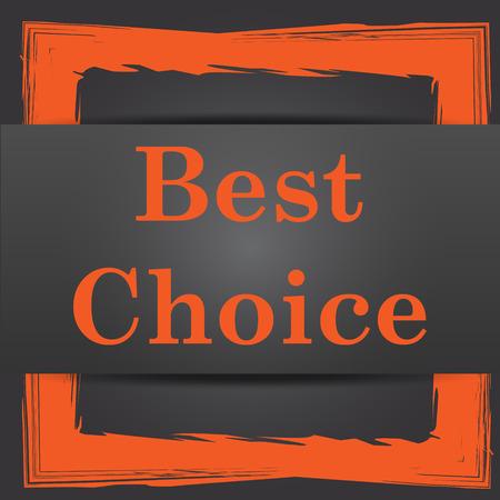 Best choice icon. Internet button on grey background. photo