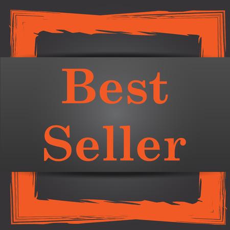 Best seller icon. Internet button on grey background. photo