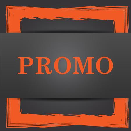Promo icon. Internet button on grey background. photo
