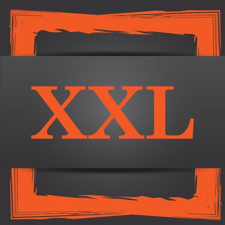 xxl icon: XXL  icon. Internet button on grey background.