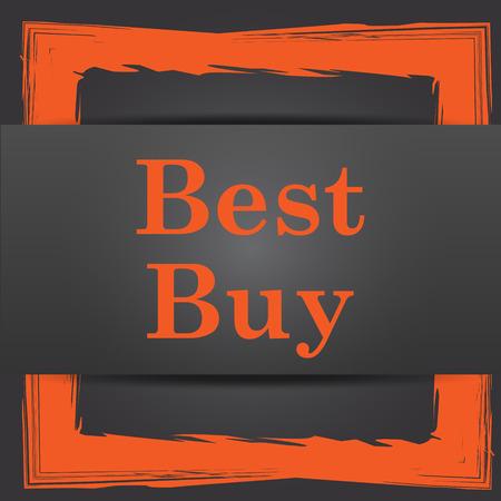 Best buy icon. Internet button on grey background. photo