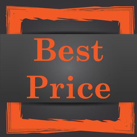 Best price icon. Internet button on grey background. photo