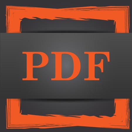 bibliography: PDF icon. Internet button on grey background.