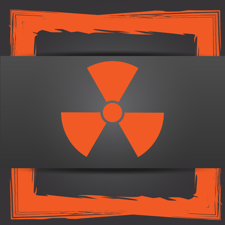 emanation: Radiation icon. Internet button on grey background. Stock Photo