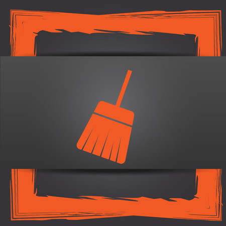 sweep: Sweep icon. Internet button on grey background.