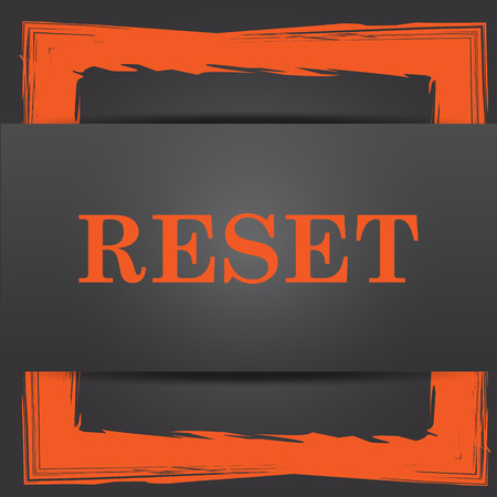 redesign: Reset icon. Internet button on grey background.