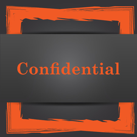 confidentiality: Confidential icon. Internet button on grey background. Stock Photo