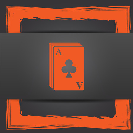 Deck of cards icon. Internet button on grey background. photo