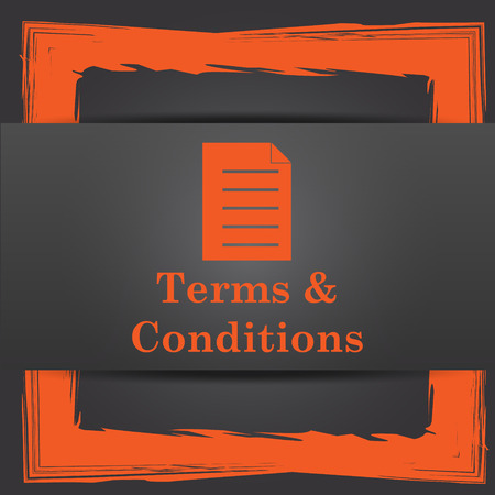 conditions: Terms and conditions icon. Internet button on grey background. Stock Photo