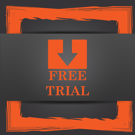 grant: Free trial icon. Internet button on grey background.
