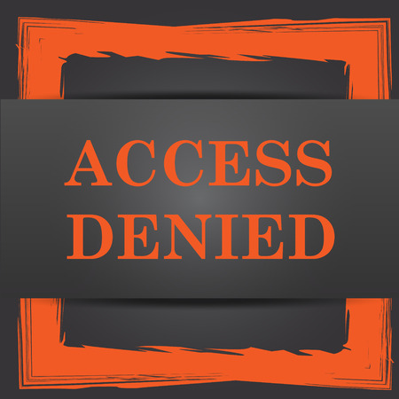 access denied icon: Access denied icon. Internet button on grey background.