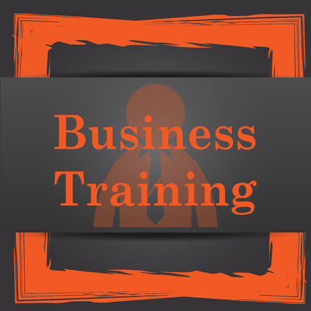 idea hurdle: Business training icon. Internet button on grey background. Stock Photo