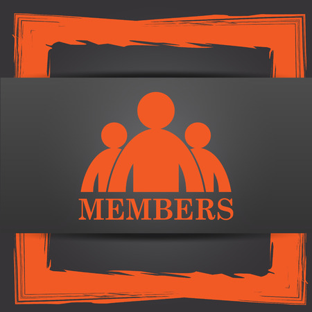 join here: Members icon. Internet button on grey background.