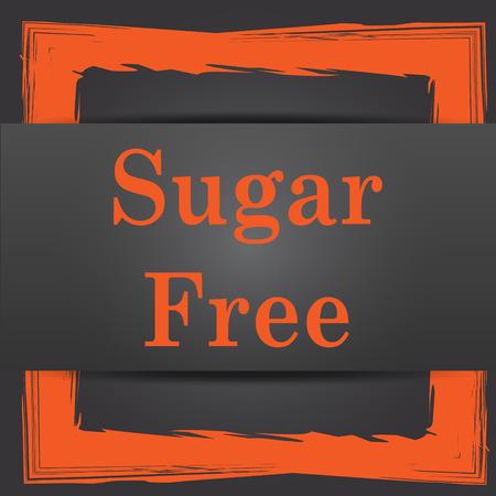 sweetener: Sugar free icon. Internet button on grey background.