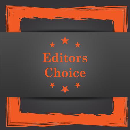 editors: Editors choice icon. Internet button on grey background.