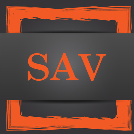 assessed: SAV icon. Internet button on grey background.