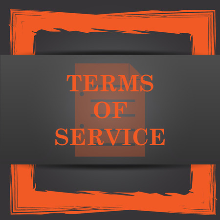 terms: Terms of service icon. Internet button on grey background.