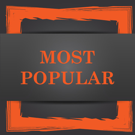 most popular: Most popular icon. Internet button on grey background.