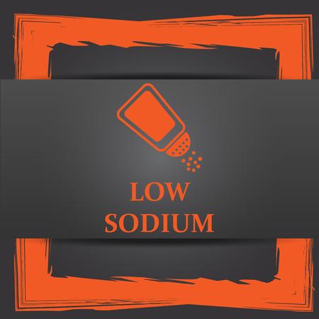 salt free: Low sodium icon. Internet button on grey background.
