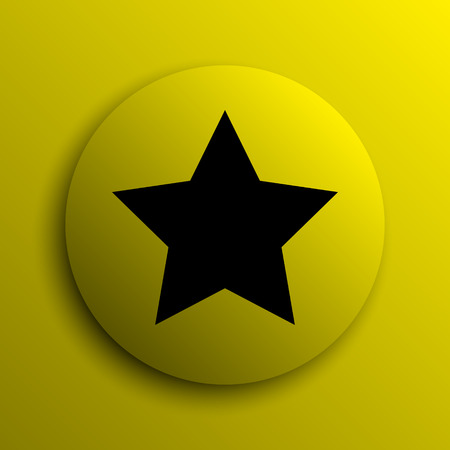 favorite: Favorite  icon. Yellow internet button. Stock Photo