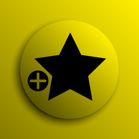 favoritos: A�adir a favoritos icono. Bot�n amarillo internet.