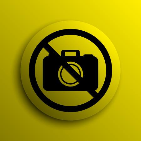 forbidden: Forbidden camera icon. Yellow internet button.