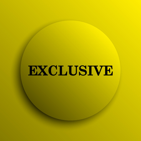 exclusive icon: Exclusive icon. Yellow internet button.