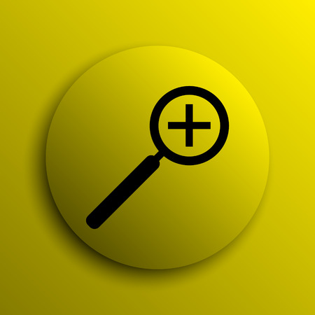 zoom in: Zoom in icon. Yellow internet button.