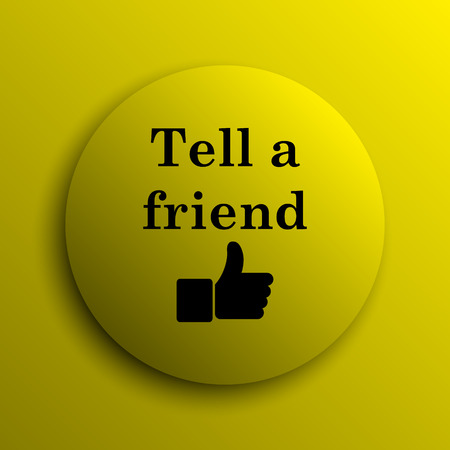 recommendations: Tell a friend icon. Yellow internet button.