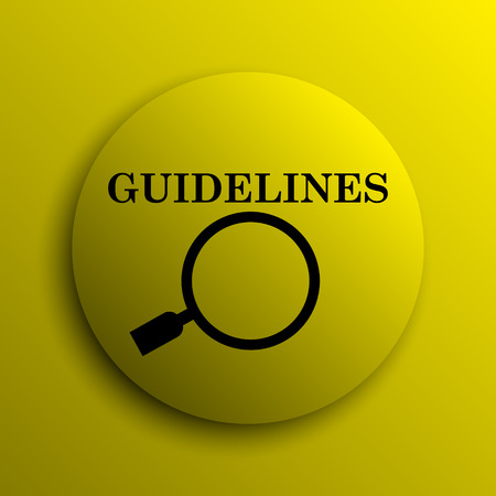 guidelines: Guidelines icon. Yellow internet button.