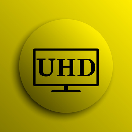 hd: Ultra HD icon. Yellow internet button.