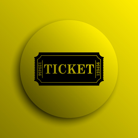 releasing: Cinema ticket icon. Yellow internet button.