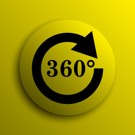 Reload 360 icon. Yellow internet button.