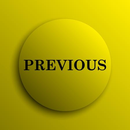 previous: Previous icon. Yellow internet button.