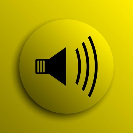speaker icon: Speaker icon. Yellow internet button.