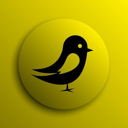 chirp: Bird icon. Yellow internet button.