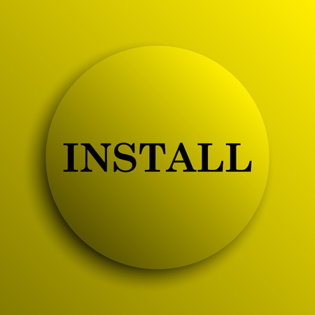 operative system: Install icon. Yellow internet button.