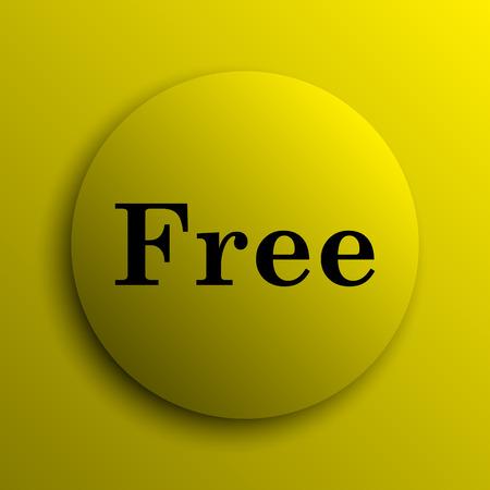 gratuity: Free icon. Yellow internet button. Stock Photo