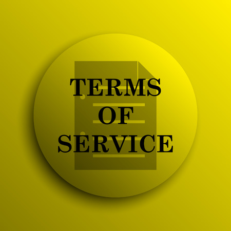 terms: Terms of service icon. Yellow internet button.