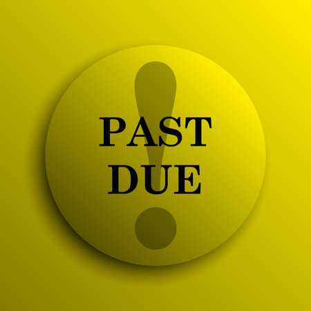 due: Past due icon. Yellow internet button.