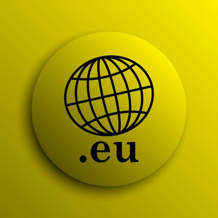 eu: .eu icon. Yellow internet button.